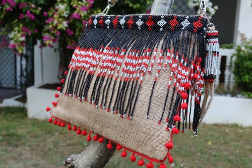 Clea Beaded Jute Bag