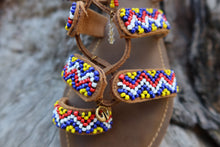 Load image into Gallery viewer, Beaded Sandals with colorful beads