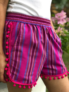 Mademoiselle summer shorts in fuchsia