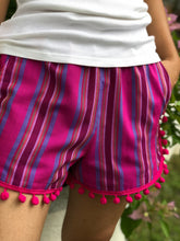 Load image into Gallery viewer, Mademoiselle summer shorts in fuchsia