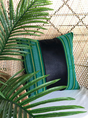 Margot, black textile pillow