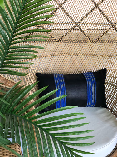 Gaelle, black textile pillow