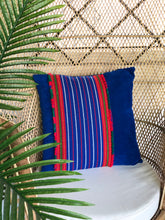 Load image into Gallery viewer, Celeste, blue textile pillow
