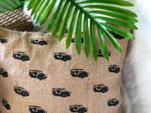Load image into Gallery viewer, Mini jeepney jute pillowcase