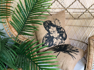 Sampaguita jute pillowcase