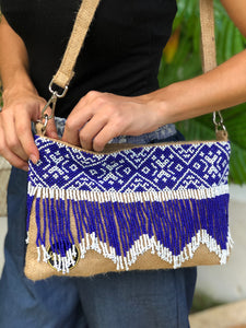 Belle Beaded Jute Bag