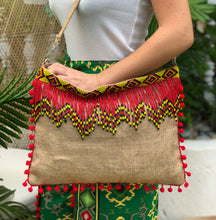 Load image into Gallery viewer, Lea Beaded Jute Bag