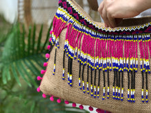Load image into Gallery viewer, Josephine Beaded Jute Bag