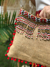 Load image into Gallery viewer, Elisa Beaded Jute Bag