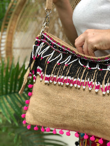 Manon Beaded Jute Bag