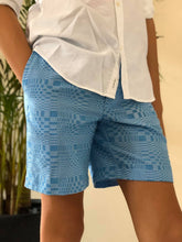Load image into Gallery viewer, Arnel, blue men shorts