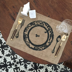 Tinidor at kutsara placemat, set of 6 pieces.