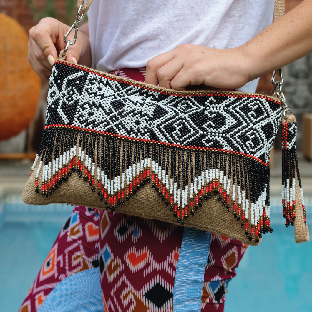 Bagobo Beaded Jute Bag