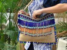 Load image into Gallery viewer, Ara Beaded Jute Bag