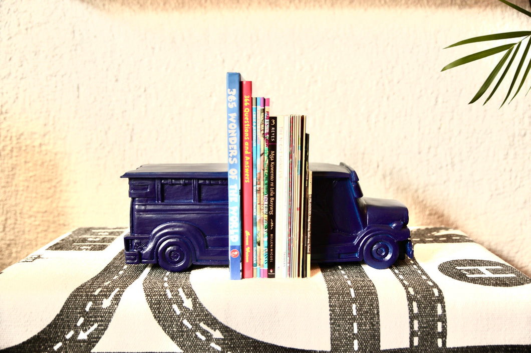 Blue jeepney bookends