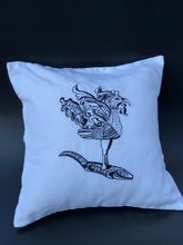 Load image into Gallery viewer, Sarimanok embroidered pillowcase in white