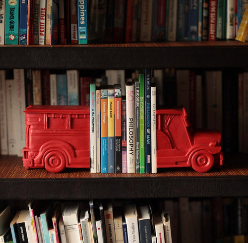Red jeepney bookends