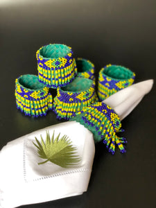 Beaded banig napkin rings