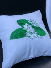 Load image into Gallery viewer, Sampaguita  embroidered pillowcase in white