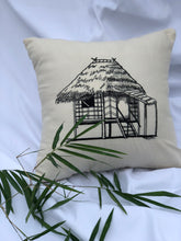 Load image into Gallery viewer, Bahay kubo embroidered pillowcase in creme