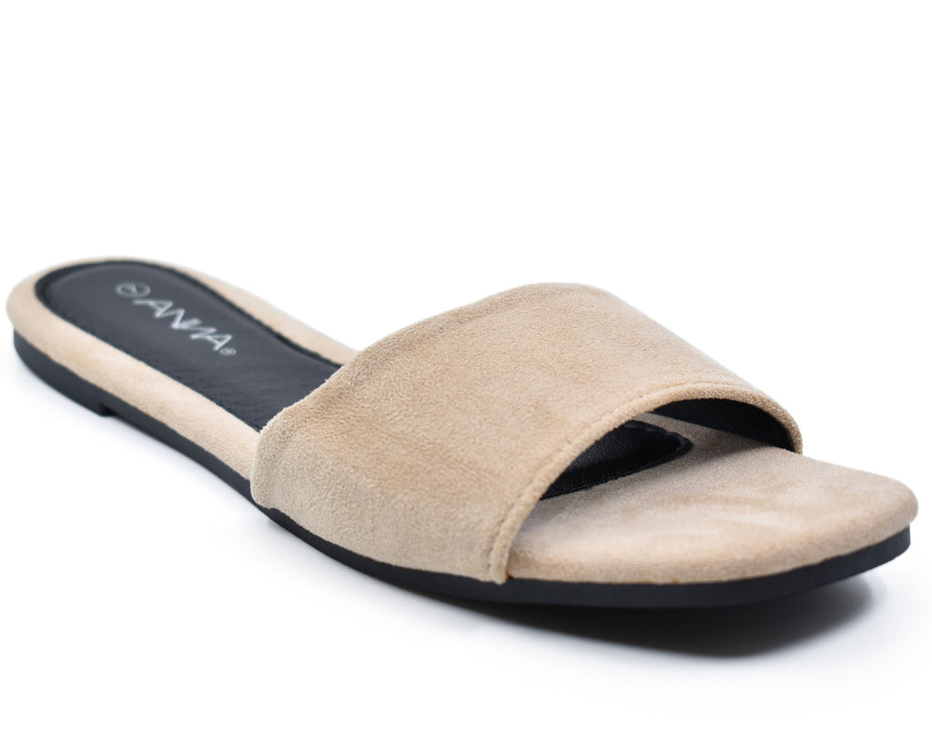 Peyton-01 Square Open Toe Slide Sandals