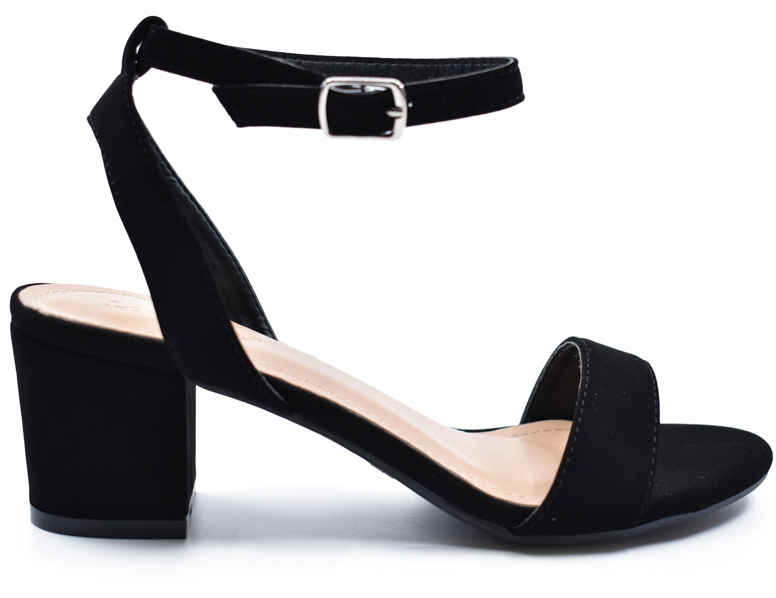Dover Short Ankle Strap Block Heel Sandals