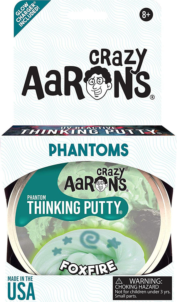 Crazy Aaron's Thinking Putty, 3.2 Ounce, Phantoms Foxfire