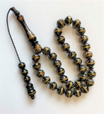 Tesbih 33luk Kuka (Kokka) - Brass-Inlaid  - Prayer Beads