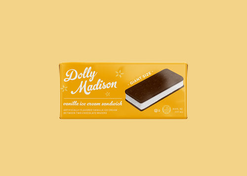 Ice Cream Vanilla Sandwich-Dolly Madison