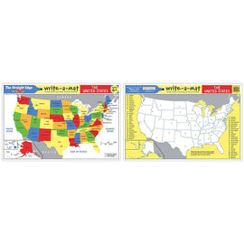 USA Map Learning Mat
