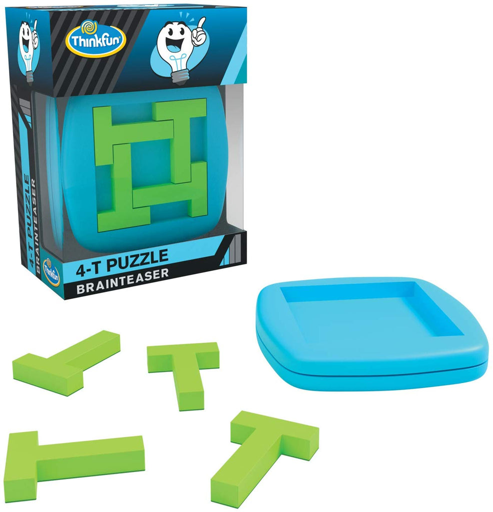 ThinkFun Pocket Brainteasers - 4-T Puzzle Game and STEM Toy for Boys and Girls Age 8 and Up