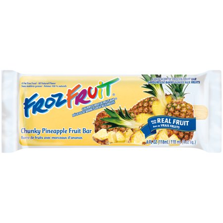 Ice Cream FrozFruit-Chunky Pineapple Fruit Bar