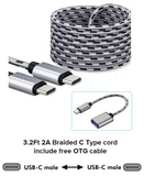OCEANTREE Type C Cabel Type-C to Type-C (3Ft),Type-C to Usb A OTG cable