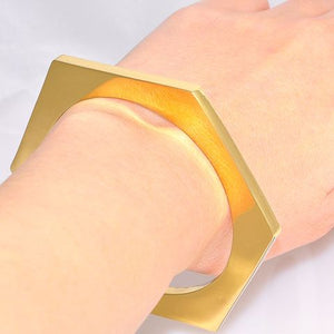 Charles Albert Alchemia Hexagon Bangle Cuff Bracelet