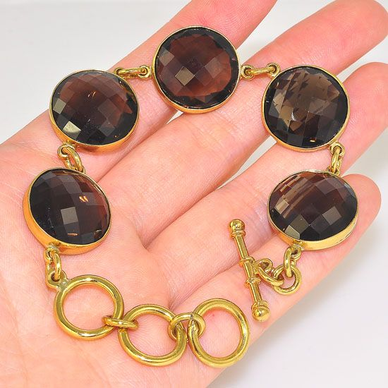 Charles Albert Alchemia Smokey Quartz Faceted Bead Bracelet