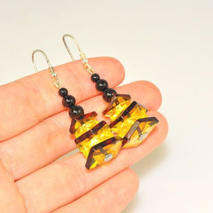 Sterling Silver Baltic Multi Amber Stack Earrings