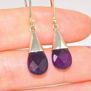 Sterling Silver Amethyst Teardrop Earrings