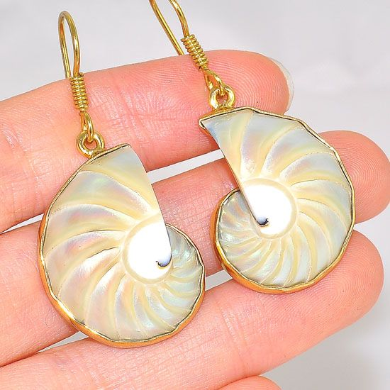 Charles Albert Alchemia Nautilus Shell Earrings