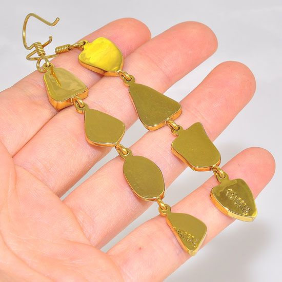 Charles Albert Alchemia Multicolored Beach Glass Dangle Earrings