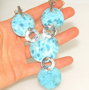 Sterling Silver Gorgeous Larimar Necklace