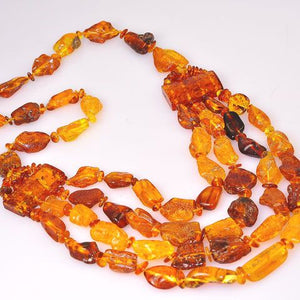 Baltic Honey Amber Beaded Necklace