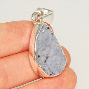 Charles Albert Sterling Silver, Spotted Druzy Pendant