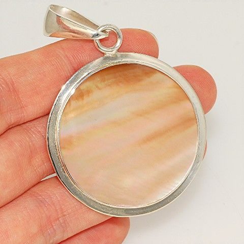 Sterling Silver, Shell Pendant