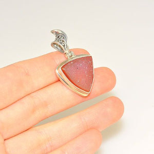 Sterling Silver Druzy Triangle Pendant