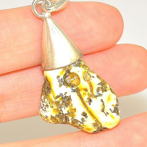Sterling Silver Baltic Butterscotch Amber Pendant