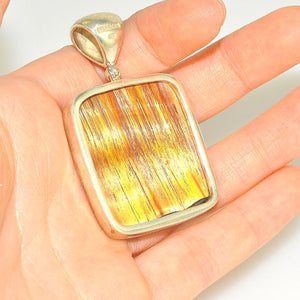 Sterling Silver Tiger Eye Square Pendant
