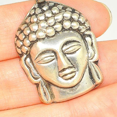 Sterling Silver Buddha Face Pendant
