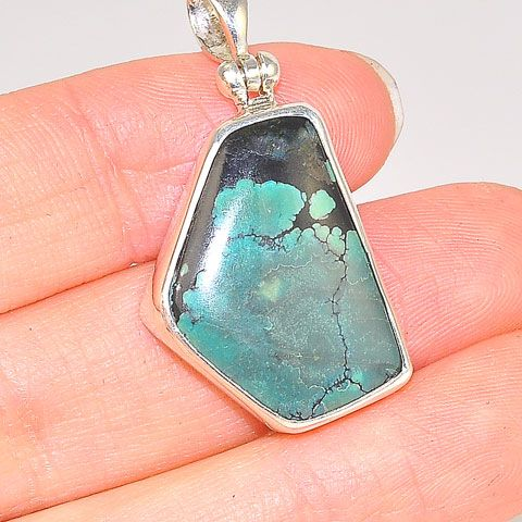 Sterling Silver 14.2-Carat Turquoise Pendant