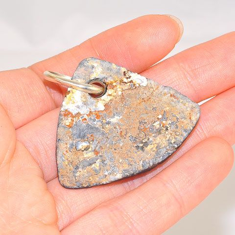 Sterling Silver Chalcedony Druzy Pendant