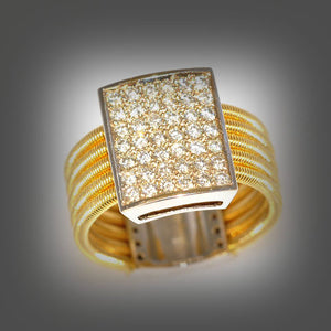 0.65 Carat G/H Diamond, 14K Solid Yellow and White Gold Ring